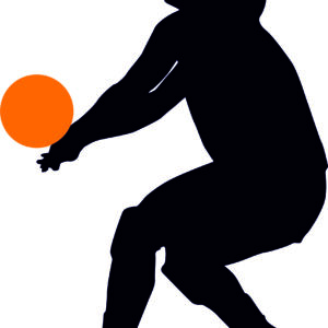 Volley Ball Player Silhouette alternate image
