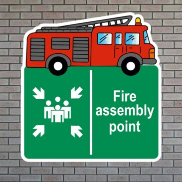 Fire Engine Assembly Point Icon Sign