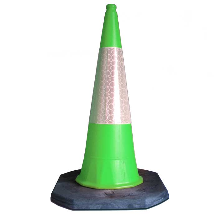 green no parking cone