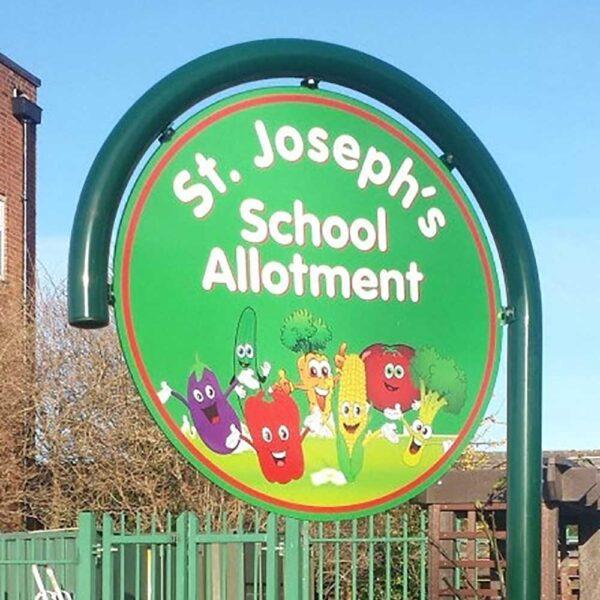 Hooped School Signs