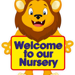 Lion Animal Sign Welcome to our Nursery (Own Wording) alternate image
