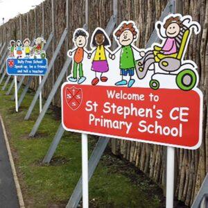 School Kiddie Main Sign
