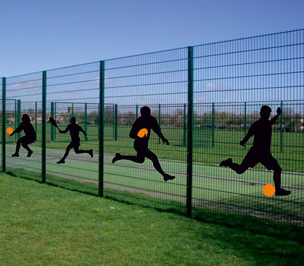 Shadow Fence sport sign