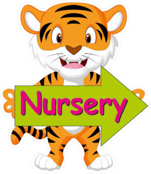 Custom Tiger Nursery Directional Sign alternate image