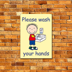 Please Wash Your Hands Sign alternate image
