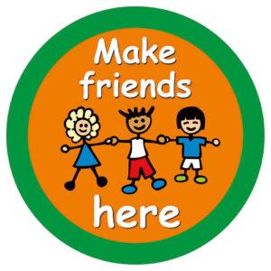 Make Friends Here - Friendship Stop Sign alternate image