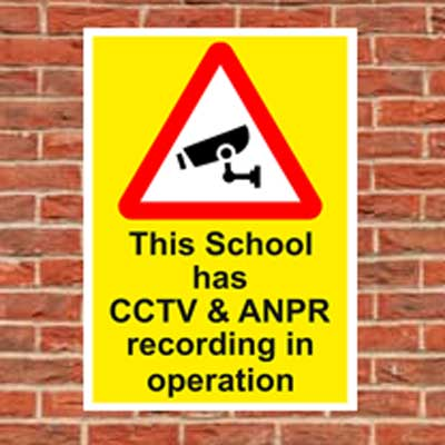 cctv and anpr recording sign