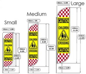 Feather Flying Flags Road Safety Caution Banners Pack of 2 alternate image