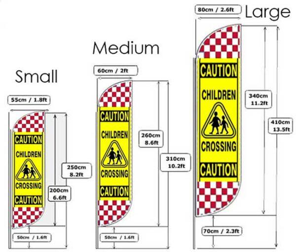 Caution Flag Sizes