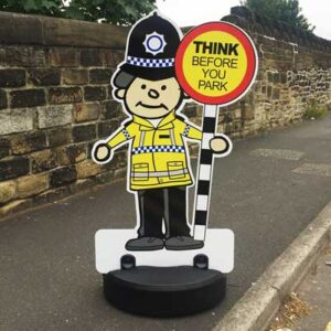 Police Officer Parking Buddy Kiddie Cut Out Pavement Sign
