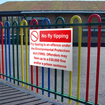 fly tipping fence