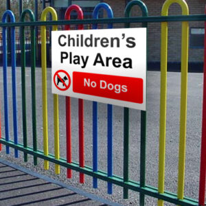 Children's Play Area (No Dogs) Sign alternate image