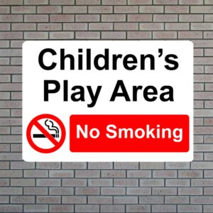 Children's Play Area No Smoking
