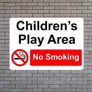 Children's Play Area No Smoking