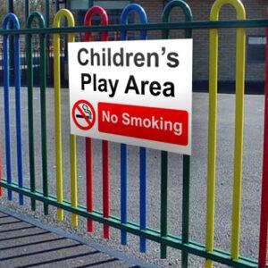 Children's Play Area (No Smoking) Sign alternate image