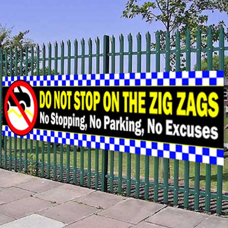 No Parking on Zig Zags