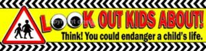 LOOK OUT KIDS ABOUT! Road Safety PVC Banner alternate image