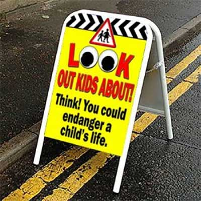 safety pavement signs for schools