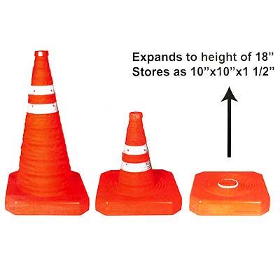 pop up traffic cones