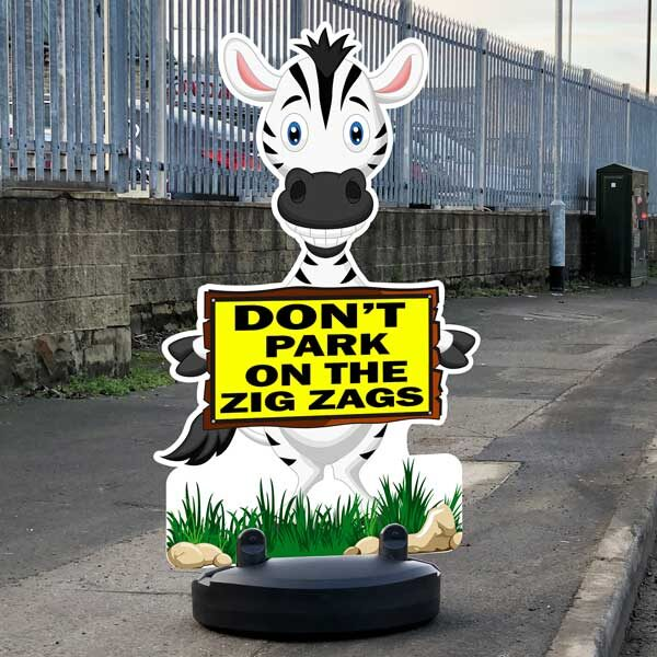 Don't Park on Zig Zags Sign