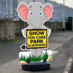 Cartoon Animal Buddies Road Safety Pavement Signs alternate image