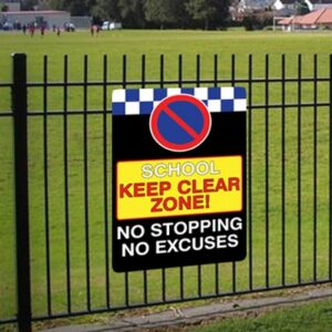 School Keep Clear Zone Sign