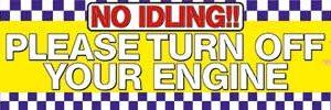 No Idling! Turn Off Your Engine Banner alternate image