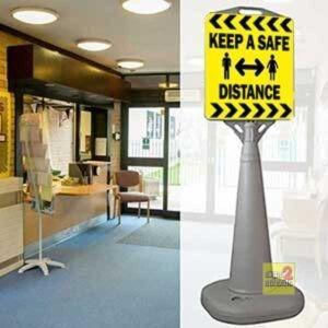 Keep A Safe Distance Sign