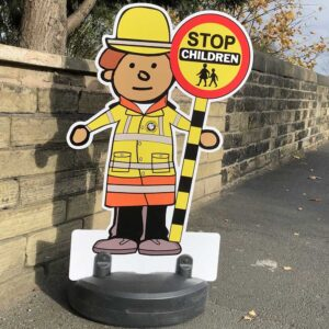 Traffic Patrol Buddies / Kiddie Cut Out Pavement Sign alternate image