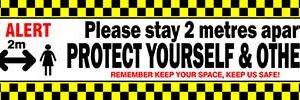 BE ALERT - COVID-19 Keep Your Distance Banner alternate image