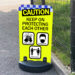 Caution Keep Protecting Covid19 Pavement Sign