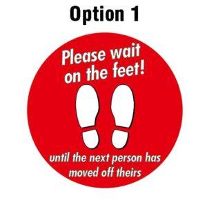 Corridor Floor Marker Stickers alternate image