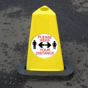 Keep Your Distance Safety Cones