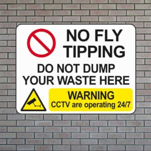 No Fly Tipping Sign