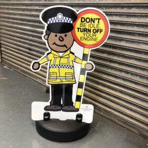 Police Officer Parking Buddy Kiddie Cut Out Pavement Sign alternate image