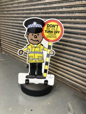 Police Buddy Officer Kiddie Cut Out Pavement Sign alternate image
