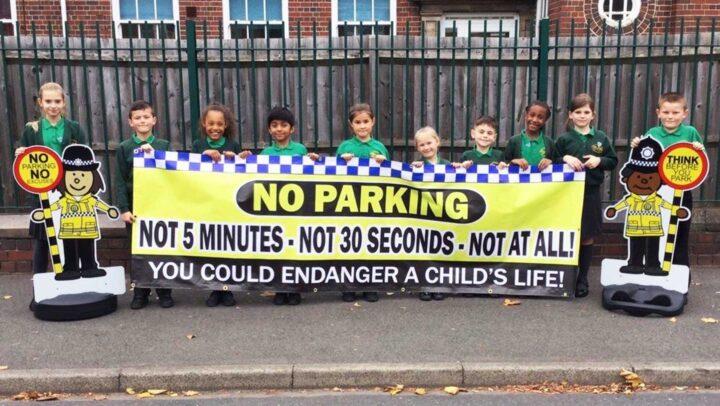 No Parking Banner