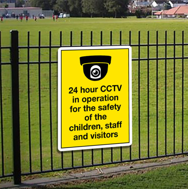 24 Hour CCTV In Operation Sign