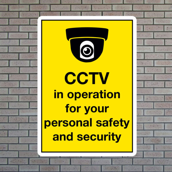 CCTV in operation personal safety sign
