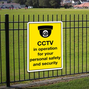 CCTV in Operation Personal Safety Sign alternate image