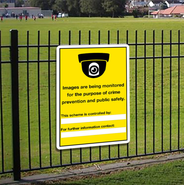 Images Are Being Monitored Sign