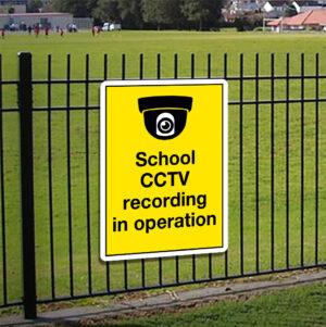 School CCTV Recording in Operation Sign alternate image
