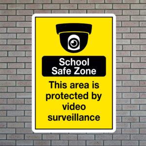 School Safe Zone Sign