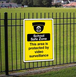 School Safe Zone Sign alternate image