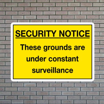 Security Notice Under Surveillance