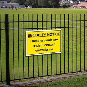 Security Notice Under Surveillance Sign alternate image