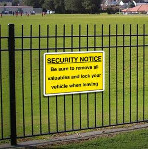 Security Notice Sign alternate image