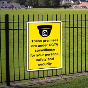 These Premises Are Under CCTV Surveillance Sign alternate image