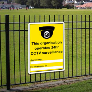 This Organisation Operates 24hr CCTV Sign alternate image