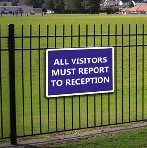 All Visitors Must Report to Reception alternate image